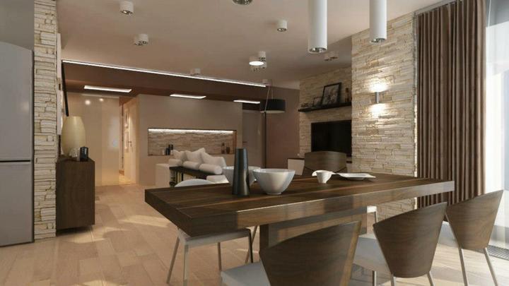 Obývací pokoj s kuchyní a jídelnou - Obrázek č. 155