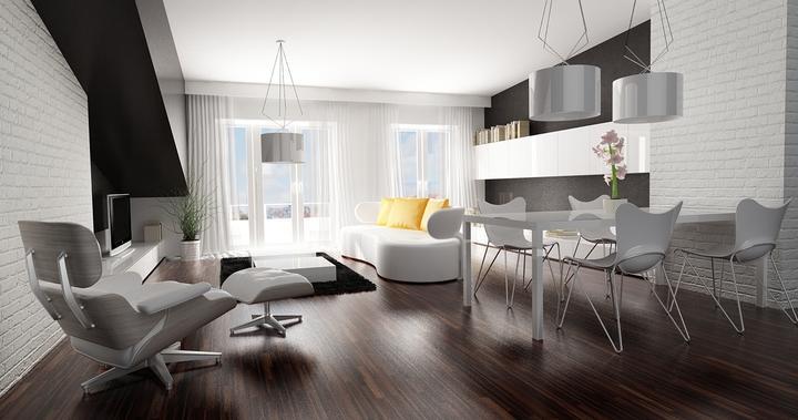 Obývací pokoj s kuchyní a jídelnou - Obrázek č. 156