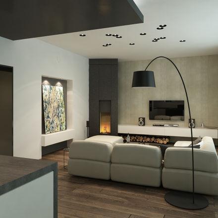 Obývací pokoj s kuchyní a jídelnou - Obrázek č. 159