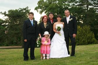 rodiče a sourozenci nevěsty