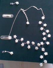Moje svatební šperky. Moc děkuji Káčce a její kamarádce :-)