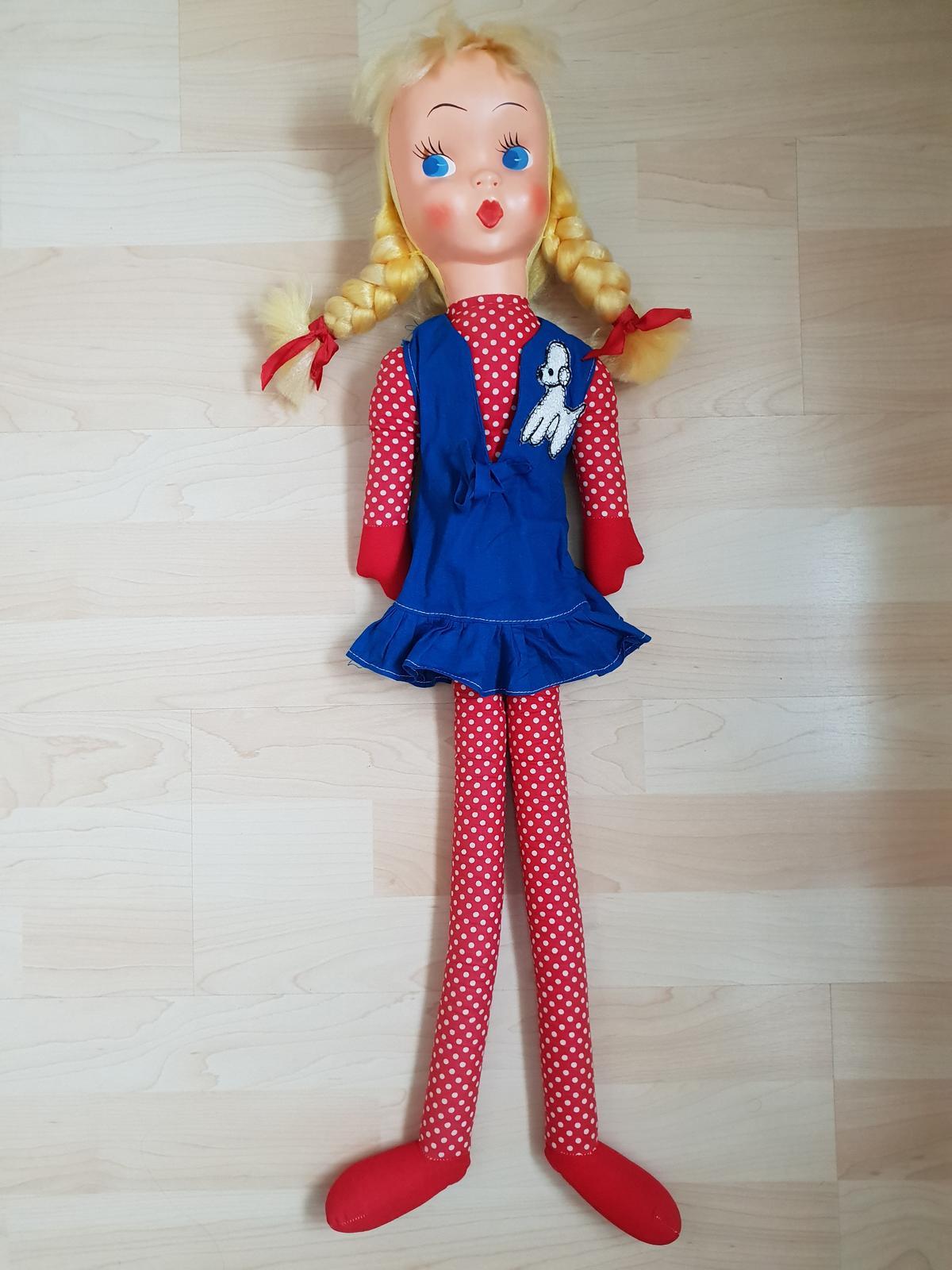 Retro bábika   výška 76cm - Obrázok č. 1