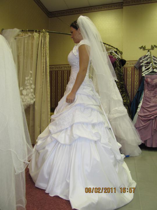Naše svadobné prípravy :-)) - s profilu.... a  bolerko asi do kostola..
