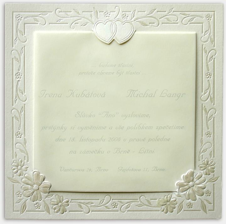 Naše svadobné prípravy :-)) - a taketo oznamko bude :-)