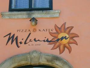 italská restaurace, kde byla rozlučka
