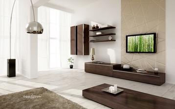 Vypůjčená fotka - inspirace na obývák - dekor ořech aida tabákový