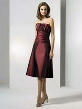 Bridesmaids will have this skirt in a deep wine red(more red than purple)