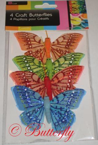 Dekoračné motýle - set 4ks/1,99eur - Obrázok č. 3