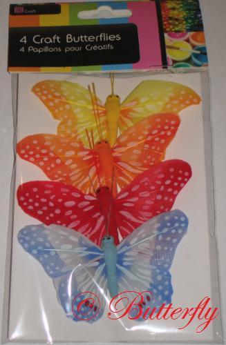 Dekoračné motýle - set 4ks/1,99eur - Obrázok č. 2