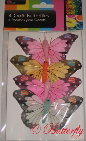 Dekoračné motýle - set 4ks/1,99eur - Obrázok č. 4