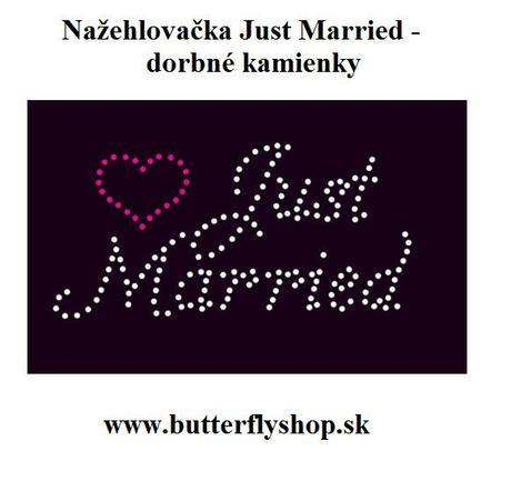 Just Married - nažehlovačka - Obrázok č. 1