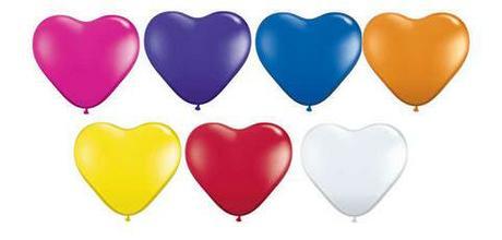 Balóny v tvare srdca - rôzne farby - Obrázok č. 1