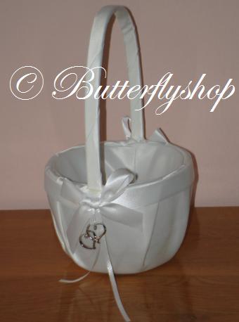 Košíček so srdiečkami - biely - Obrázok č. 2