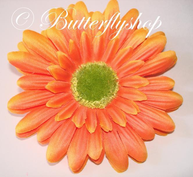 Gerbera - hlávka, oranžová - Obrázok č. 1