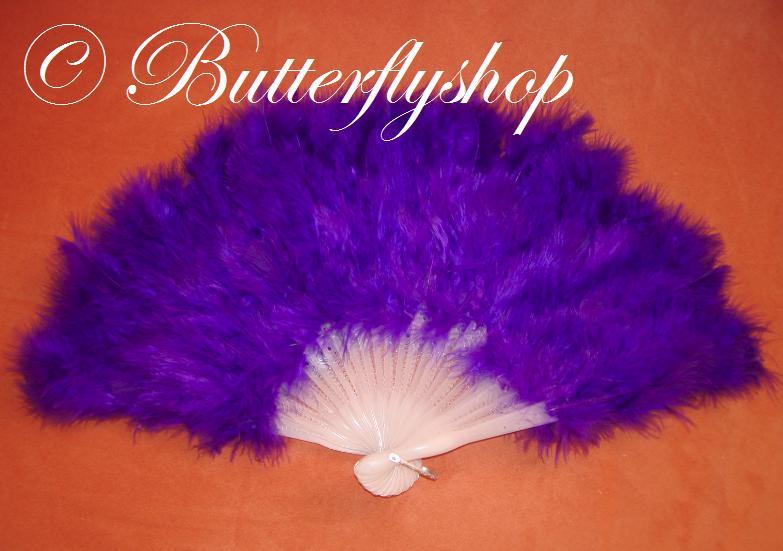 Purpurový vejár z pštrosieho peria - Obrázok č. 1