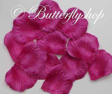 Textilné lupene ruží - fuchsia 100ks - Obrázok č. 1