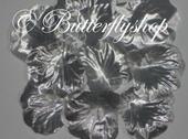 Textilné lupene ruží - strieborné100ks,