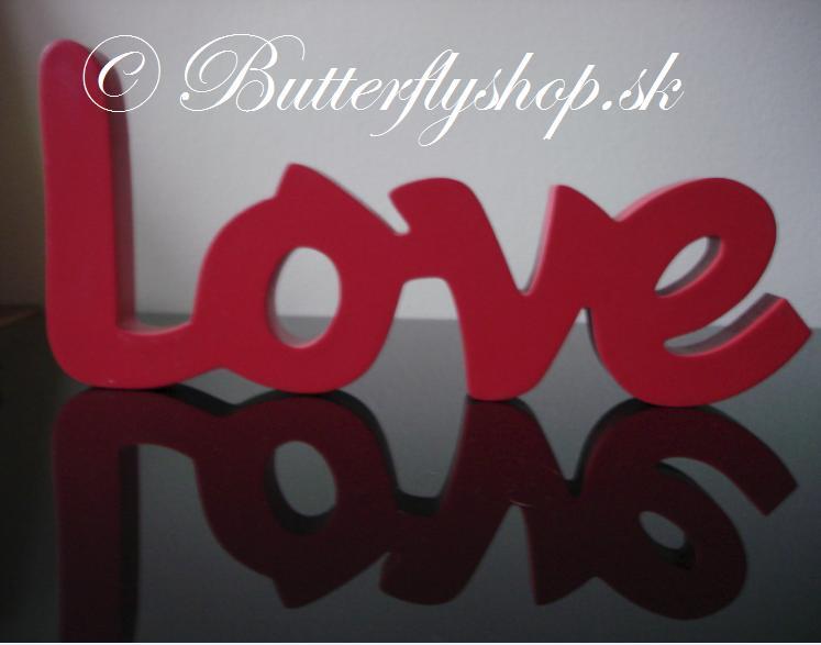 """Dekorácia """"Love"""" - červená - Obrázok č. 2"""