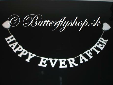 """Závesná girlanda """"Happy ever after"""" - Obrázok č. 1"""