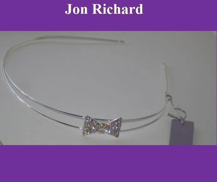 Čelenka s kryštálovou mašľou - čírej farby - Obrázok č. 3