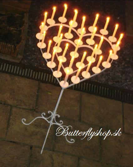Svietnik v tvare srdca - Prenájom na 7dní - Obrázok č. 1