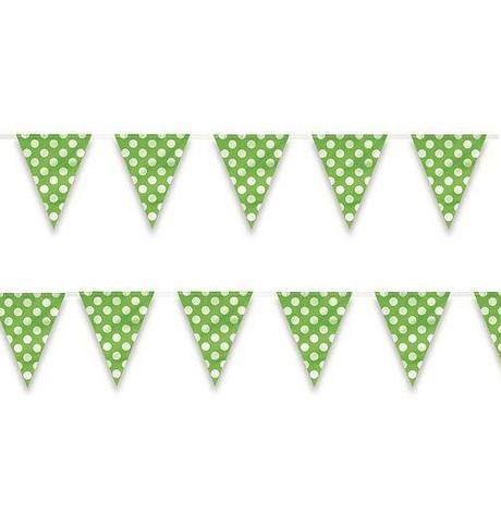 Vlajková girlanda  bodková 3,65m zelená - Obrázok č. 1