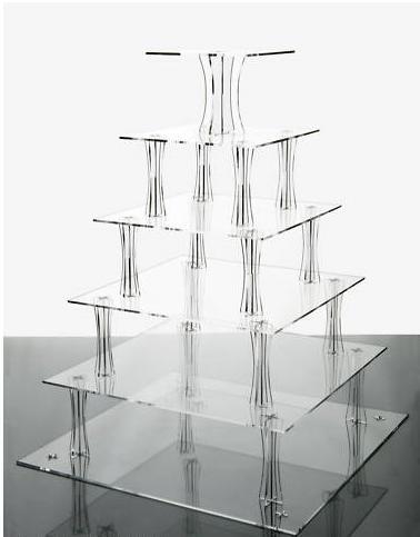 Akrylový stojan na cupcake koláčiky - prenájom - Obrázok č. 2