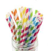 Papierové retro slamky - farba podľa výberu,