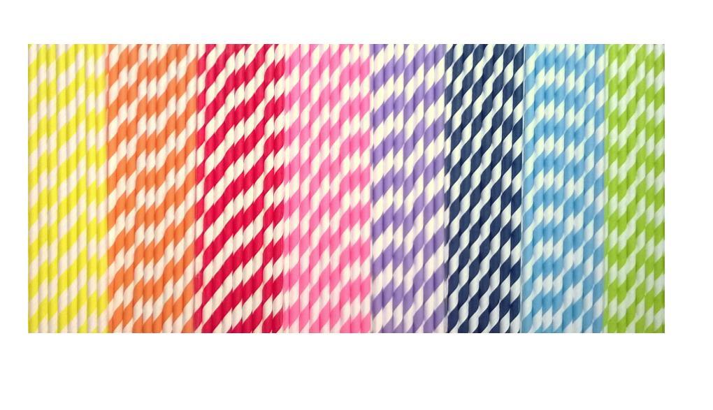 Papierové retro slamky - farba podľa výberu - Obrázok č. 2