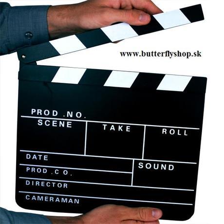 Filmárska klapka - doplnok pri foteni - Obrázok č. 1