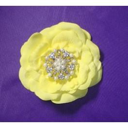 Lunita - perlová brošňa s kryštálmi - Obrázok č. 2