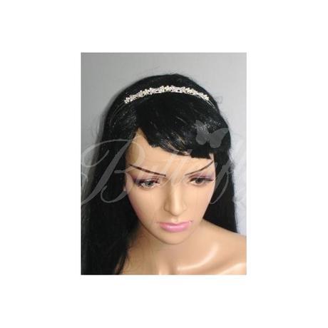 Štrasová čelenka s perličkami - Obrázok č. 3
