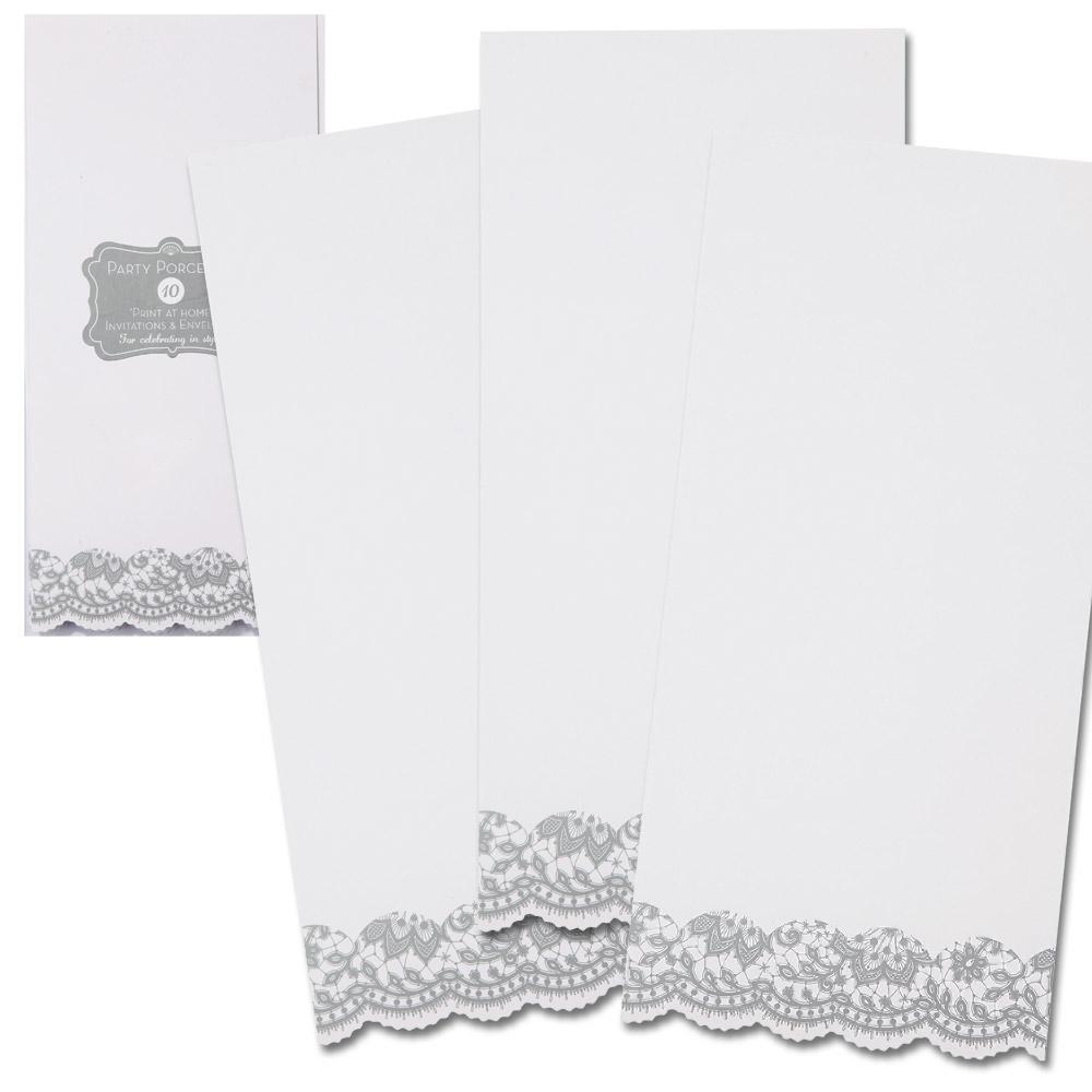 Menu karty 10ks / strieborné - Obrázok č. 2