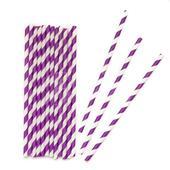 Papierové retro slamky - purpurové,