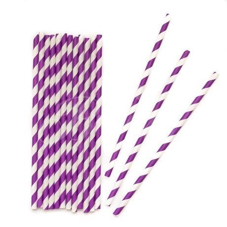 Papierové retro slamky - purpurové - Obrázok č. 1
