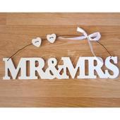 Závesná dekorácia Mr & Mrs,
