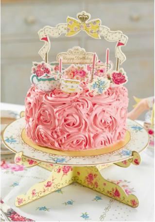 "Dekoračný set na tortu ""Vintage"" - Obrázok č. 3"