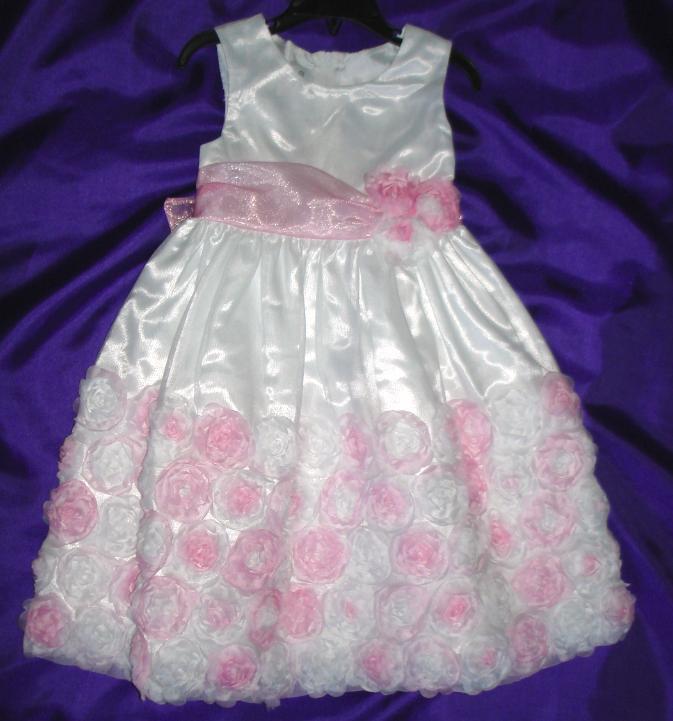 Šaty s kvetinkami - RužovoBiele - Obrázok č. 2