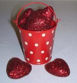 Bodkované minivedierko - červené,