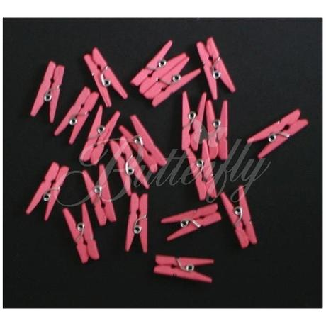Mini kolíky - tmavo-ružové - Obrázok č. 2
