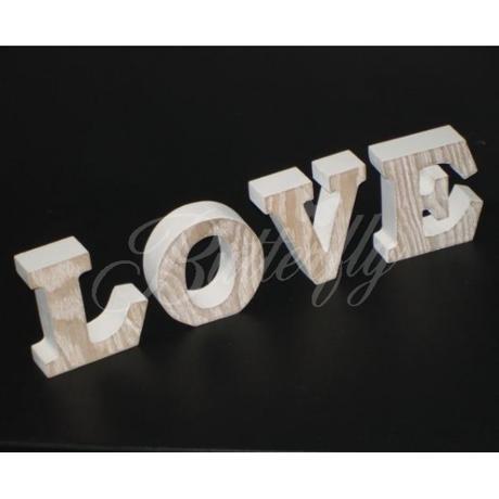 """Dekorácia """"LOVE"""" - Vintage / písmenká - Obrázok č. 1"""