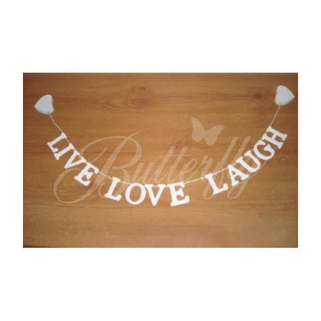 Závesná girlanda Live, Love, Laugh - Obrázok č. 1
