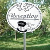 """Záhradná tabuľa """"Reception"""","""