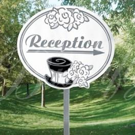 """Záhradná tabuľa """"Reception"""" - Obrázok č. 1"""