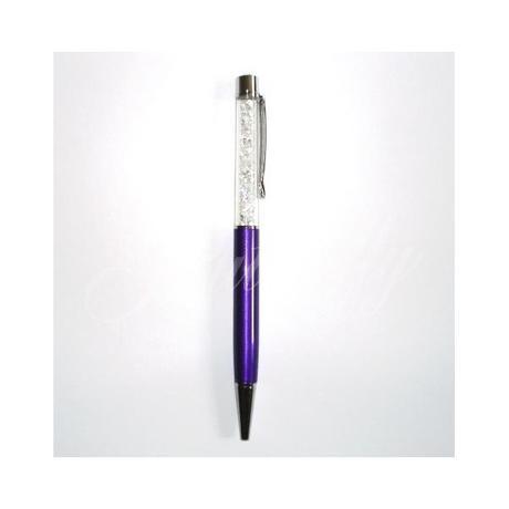 Kryštálové pero Swarovski elements - purpurové - Obrázok č. 1