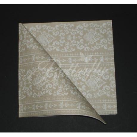 Servítky z netkanej textílie / hnedo-zlaté - Obrázok č. 2