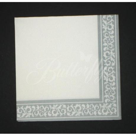 Servítky z netkanej textílie / bielo-striborné - Obrázok č. 3