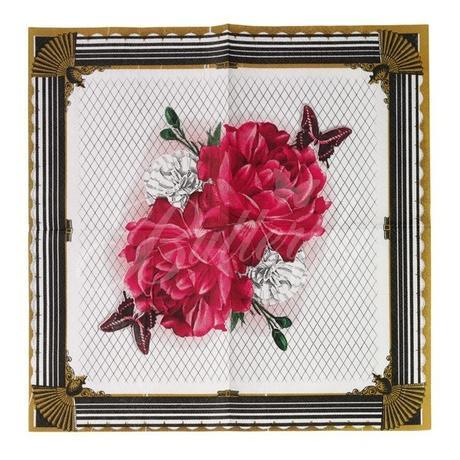 """Papierové servítky """"ruža"""" - 25ks - Obrázok č. 2"""