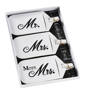 Visačky na batožinu Mr, Mrs, More Mrs - Obrázok č. 1
