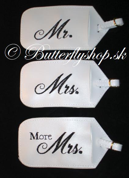 Visačky na batožinu Mr, Mrs, More Mrs - Obrázok č. 2